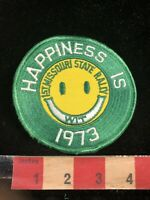 Vintage 1973 HAPPINESS IS WIT 1st Missouri State Rally Patch 99C6