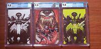 Venom #26 CGC 9.8 lot. Tyler Kirkham set First Distributed appearance of Virus.