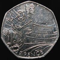 2011 | Elizabeth II London 2012 'Cycling' 50p | Cupro-Nickel | KM Coins