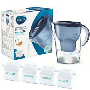 BRITA Marella XL 3,5L Blau Wasserfilter und 4x Brita Maxtra+ Filterkartuschen