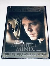 A Beautiful Mind (DVD, 2002, The Two-Disc Awards Edition, Widescreen) Sealed 11B
