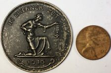 1916 German Medal In Eiserner Zeit In Gold We Give, Iron For Honor Word War One