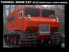 THIOKOL SNOWCAT T4T10 Operations & Parts Manual 160pg for 4T2 Trackmaster Repair