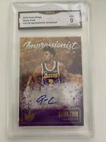 QUINN COOK 2019/20 PANINI COURT KINGS IMPRESSIONIST INK AUTO #012/179 GMA 9