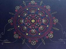 vintage psychedelic black light poster perception mandala cocorico bernstein 71