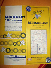 Carte michelin 205 allemagne 1967