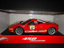 Hot Wheels Ferrari 458 Italia Challenge #12 Red 1/18