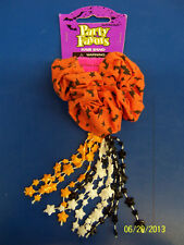 Bats Orange Black Halloween Carnival Kids Party Favor Scrunchy Beaded Hair Band