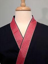 Happi coat, sushi coat, sushi chef coat, serving coat, Red on Navy