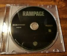 New 2018 Dwayne The Rock Johnson Rampage 4K UHD Blu Ray Disc Only