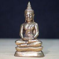 Buddha Meditation Statues Thai Amulet Wealth Rare Small Sitting Asian Figure