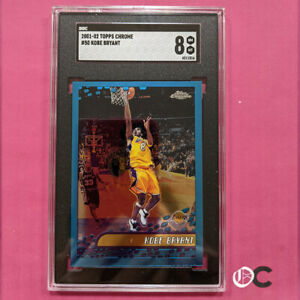 2001-02 Topps Chrome #50 Kobe Bryant SGC 8