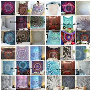 Mandala Indiano per Letto Cover Hippie Bohémien Regina Misura Telo da Parete