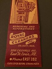 Royal Cleaners E St Louis Matchbook Matchcover
