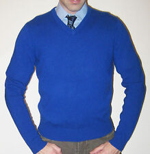 Ralph Lauren Polo 100% Cashmere Royal Blue V-Neck Sweater - Size Medium