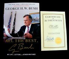 GEORGE H W BUSH Signed 'All The Best' Book w/COA PSA/DNA Guaranteed Auto!