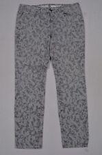 DKNY Size 10 Jegging Skinny Ankle Gray Print Denim Jeans