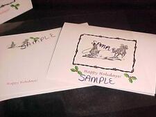 12 Team Roping Christmas Holiday Cards & Envelopes G8 Gift for Roper Horse Lover