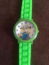 Reloj de Pulsera Green Minions Niños resistencia al agua calidad Chicos Chicas Silicona Str