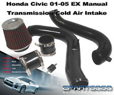 01-05 HONDA CIVIC EX 1.7L MT JDM BLACK PIPING COLD AIR INTAKE SYSTEM WITH FILTER
