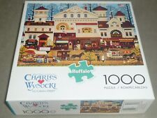 CHARLES WYSOCKI 1000 pc puzzle VICTORIAN STREET   #11447 -  COMPLETE   EC