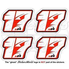 "JULES BIANCHI 17 Roter Formel 1 Fahrer F1 50mm (2"") Vinyl Sticker, Aufkleber x4"