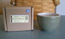 Longaberger Pottery small Entertaining Nesting bowl Sage green NEW in box