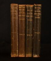 1878-82 4vol Record of Local Occurrences Buckinghamshire R. Gibbs Very Scarce
