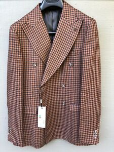 NWT Italian Double breasted Blazer 40R . Suitsupply Style Wide Lapels. A Gem