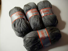 4 SKEINS BIANCA YARN - GRAY