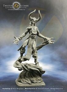 Zealot Miniatures Witch Lord - Resin AOS Heroquest Warhammer DnD Fantasy Figure