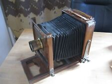 Antique Wood Box Camera w/ Dallmeyer No. 6 Stigmatic Series II Brass Lens
