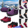 Women Slip On Warm Ankle Boots Winter Snow Fur Lined Waterproof Casual Shoes US