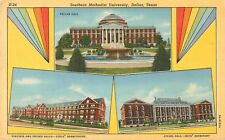 c1930s Southern Methodist University Multiviews, Dallas, Texas Postcard