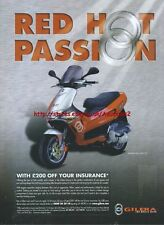"Gilera ""DNA 50cc ""Runner SP 50cc"" 2001 Magazine Advert #1390"