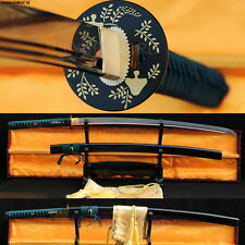 JAPANESE SAMURAI SWORD KATANA FOLDED STEEL FULL TANG SHARP FUNCTIONAL PRACTICE