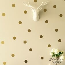 Polka Dot Wall Stickers, removable gold dot wall decals, wall art