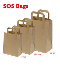More details for sos kraft paper carrier bags with handles- small medium large