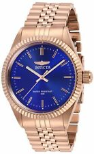 Relógio Masculino Invicta Specialty de quartzo com mostrador azul e pulseira de ouro rosé 29392