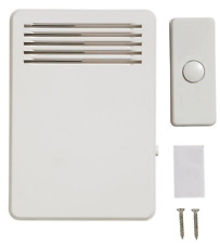 75 Db Wireless Plug-In Door Bell Kit With 1-Push Button, White 1001406888