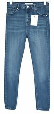 Topshop SUPER SKINNY JAMIE High Rise Dark Blue STRETCH Jeans Size 10 W28 L32