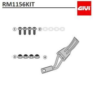 Set Mounts GIVI RM1156KIT For Fender RM02 Honda Forza 750 / X-ADV 750