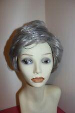 ladies silver gray short synthetic wig cap size average