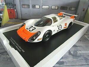 PORSCHE 908 LH 908L 24h Le Mans 1968 #33 Stommelen Neerpasch 18S518 Spark 1:18