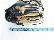 CHAMPRO AP-460 BLACK & TAN LEATHER BASEBALL MITT, LEFT HAND