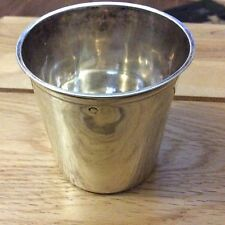 ANTIQUE FRENCH STERLING SILVER MINERVA BEAKER / CUP. 6.7cm X 6.7cm . 48.8g