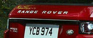 Range Rover Evoque OEM L538 Glänzend Schwarz Heckklappe Rand Molding Coupe Mit