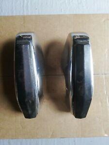 MG Midget Sprite ( MGB ?) Original Pair of bumper over riders chrome bumper