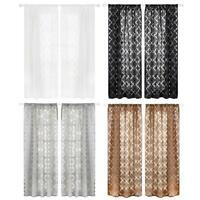 Lantern Cut Flower Bubble Print Window Curtains Blinds Drape Half Blackout Decor