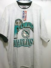 VTG NOS FLORIDA MARLINS GRAPHIC T-SHIRT NEW WITH TAGS